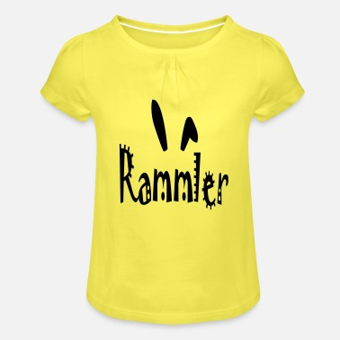 Rammler Rammler with rabbit ears (vector) - Girls' Ruffle T-Shirt