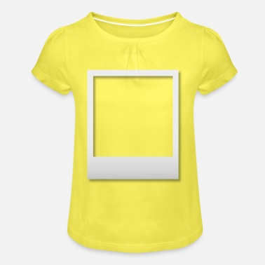 Polaroid frame with shadow - Girls' Ruffle T-Shirt