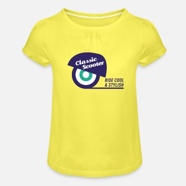 Scooters Meet Classic Scooter | Logo claim | blue - Girls' Ruffle T-Shirt