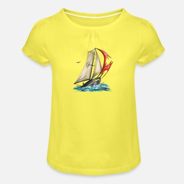 Yacht yacht - Girls' Ruffle T-Shirt