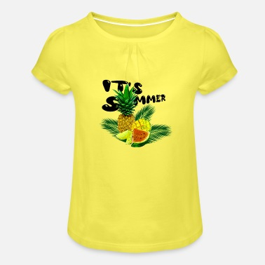 Its Summer Fruits - fruity gift idea - Girls' Ruffle T-Shirt