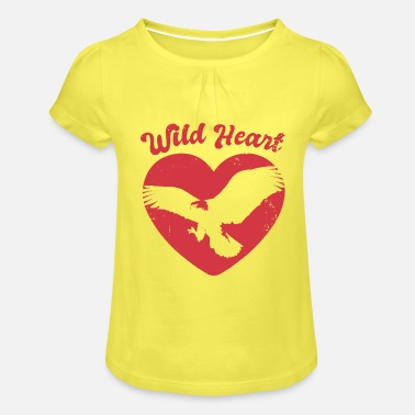 Forest Nature Forest Flying Eagle - Girls' Ruffle T-Shirt