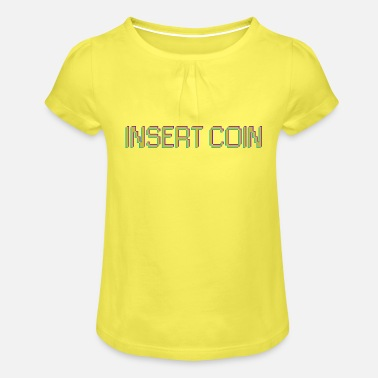 Insert Coin Geek retro arcade - Girls' Ruffle T-Shirt