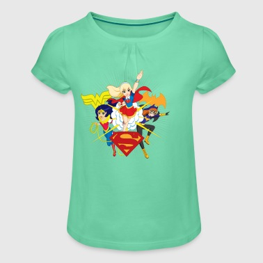 DC Super Hero Girls Wonder Woman Supergirl Batgirl - Pige T-shirt med flæser