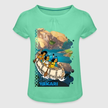 Yakari Excursion en bateau Tee shirt - T-shirt à fronces au col Fille