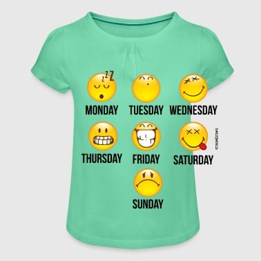 SmileyWorld Weekly Overview - T-shirt med rynkning flicka