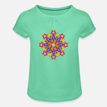 Colour Splash colour splash mandala - Girl's T-Shirt with Ruffles