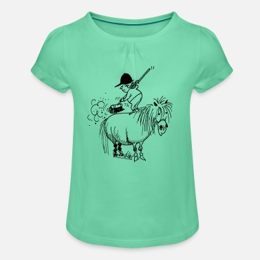 Thelwell 'Spring-cleaning' - Meisjes-T-shirt met plooien