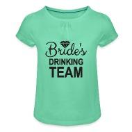 Vrijgezellen Vrijgezellend Het Drinken Het Teamidee Van De Vrijgezelpartij    Meisjes T Shirt Met