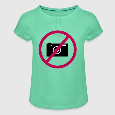 no photos funny design as a vector graphic - Girl's T-Shirt with Ruffles