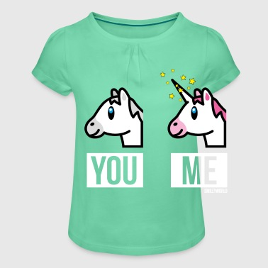 SmileyWorld You Me Horse Vs Unicorn - Girl's T-Shirt with Ruffles