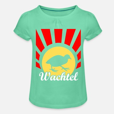 Water Bird Quail water bird - Girls' Ruffle T-Shirt