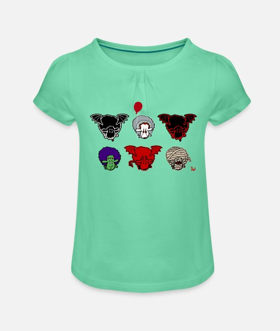 Frankenstein T-Shirts - Sheepers Creepers - Girls' Ruffle T-Shirt mint
