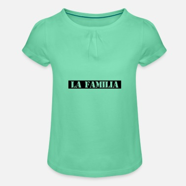 LA Familia Design Mafia family - Girls' Ruffle T-Shirt