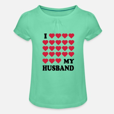 Husband husband - Girls' Ruffle T-Shirt