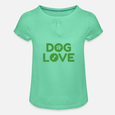 DOG LOVE dog lover gift idea - Girls' Ruffle T-Shirt