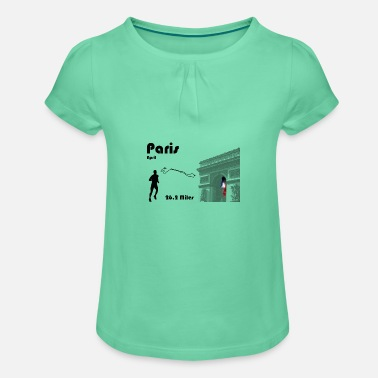 Paris marathon - Girls' Ruffle T-Shirt