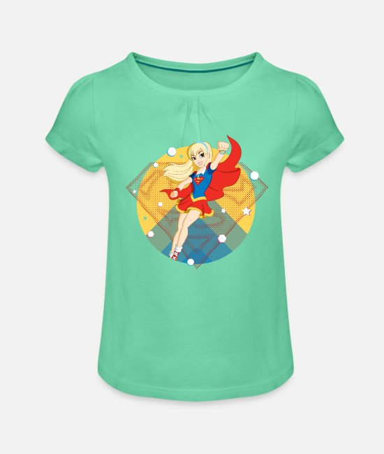 Super Héros T-shirts - DC Super Hero Girls Supergirl - T-shirt à fronces Fille vert menthe
