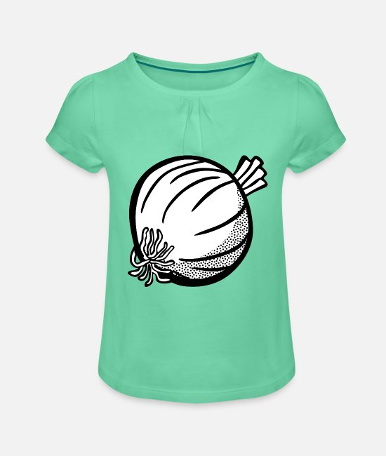 Vegetables T-Shirts - Onion - Girls' Ruffle T-Shirt mint