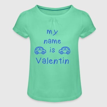 VALENTIN MY NAME IS - Girl's T-shirt with Ruffles