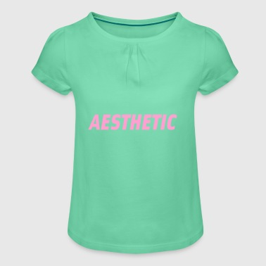 Aesthetic tee - Girl's T-shirt with Ruffles