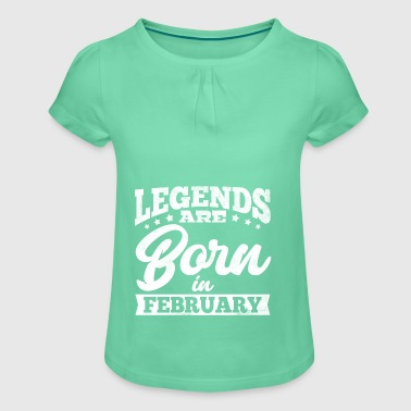 LEGENDSFebruary - Girl's T-shirt with Ruffles