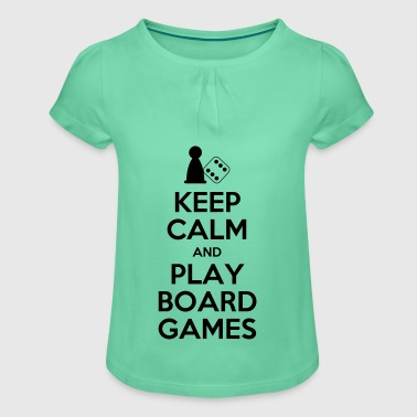 Keep Calm - Board Games - Girl's T-shirt with Ruffles