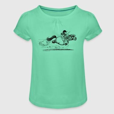 PonySprint Thelwell Cartoon - Girl's T-shirt with Ruffles