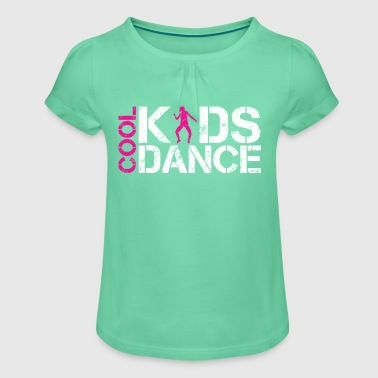 Cool kids dance vintage - Girl's T-shirt with Ruffles