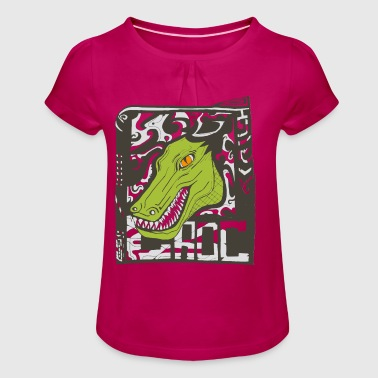 Croc - Girl's T-Shirt with Ruffles