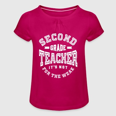 Second Grade Teacher - Girl's T-Shirt with Ruffles