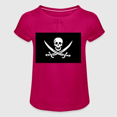 Jolly Roger! - Girl's T-Shirt with Ruffles