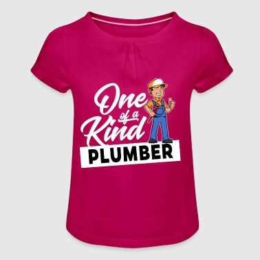 Proud Plumber - One of a kind - Girl's T-Shirt with Ruffles