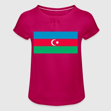 Azerbaijan flag - Girl's T-Shirt with Ruffles