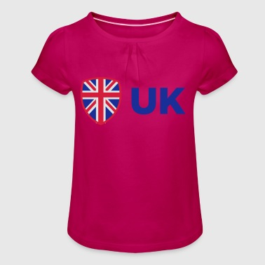 National Flag Of The United Kingdom - Girl's T-Shirt with Ruffles