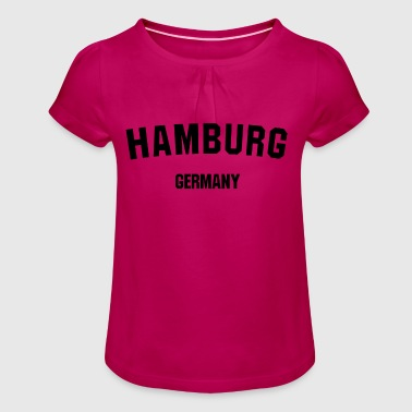 Hanseatic city of Hamburg - Girl's T-Shirt with Ruffles