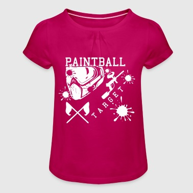 Paintball - Girl's T-Shirt with Ruffles