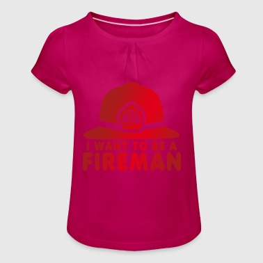 Firefighter | Fire Department | firefighter - Girl's T-Shirt with Ruffles
