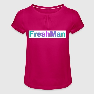 freshman - Girl's T-Shirt with Ruffles