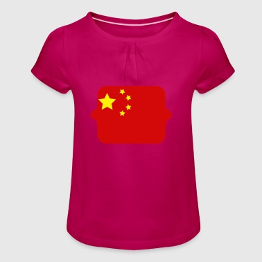 China flag - Girl's T-Shirt with Ruffles
