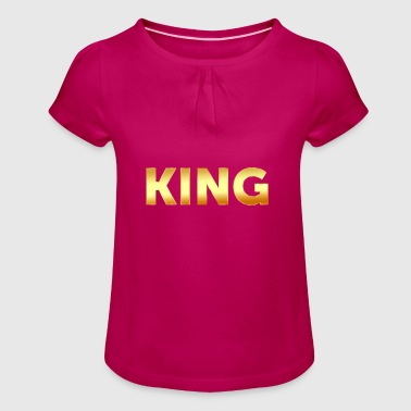 King text - Girl's T-Shirt with Ruffles