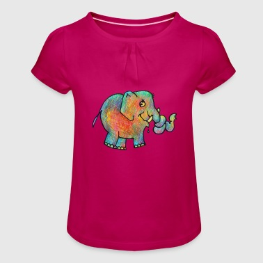 Elli coloré - T-shirt à fronces au col Fille