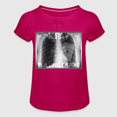 X RAY PLAYING CARDIO - Camiseta para niña con drapeado