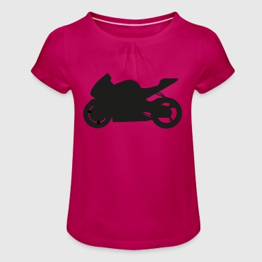 Cool super athlete with buddies enjoying - Girl's T-Shirt with Ruffles