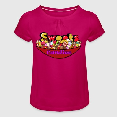 Sweets Candies - Girl's T-Shirt with Ruffles