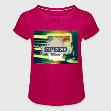 Speed speed - Girl's T-Shirt with Ruffles