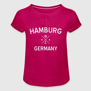 hamburg1 - T-shirt à fronces au col Fille