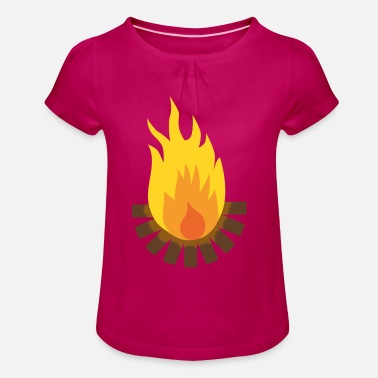Camp-fire Camp Fire - Girl's T-Shirt with Ruffles