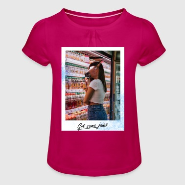 Got some juice - Girl's T-Shirt with Ruffles