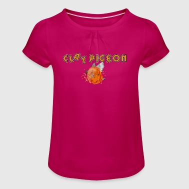 Clay pigeon - Girl's T-Shirt with Ruffles